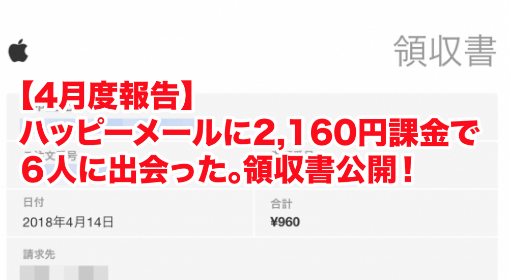 ハッピーメールで出会いは可能?2160円課金して◯人に出会った!